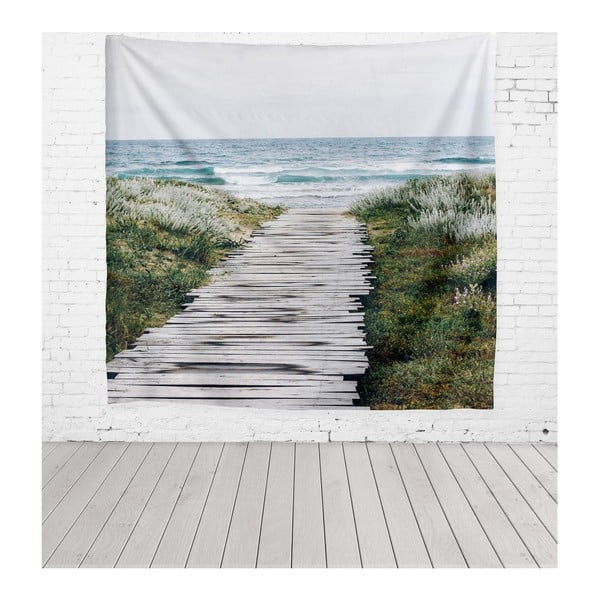 Tapiséria z mikrovlákna Really Nice Things Beach Way, 140 × 140 cm