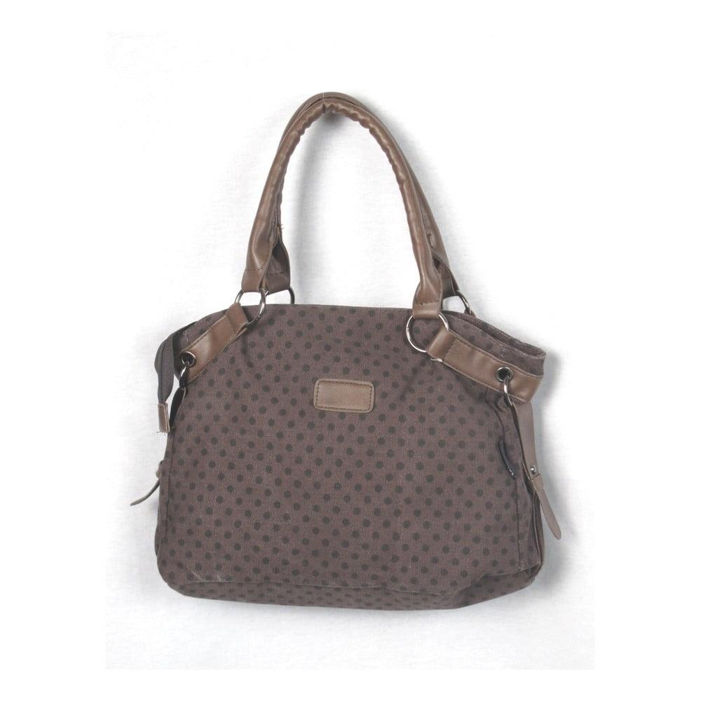 Hnědá plátěná taška Sorela Dotty Chic, šířka 38 cm
