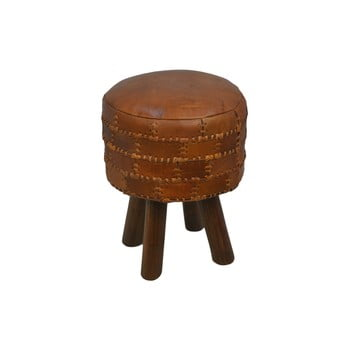 Scaun din piele de bovină HSM collection Art of Nature Vintage Cognac, ⌀ 33 cm imagine