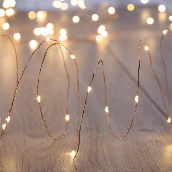 Světelný LED řetež v měděné barvě DecoKing Simple Chain, délka10,3m