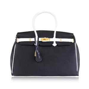 Kožená kabelka Dolce Birk Nero/Bianco