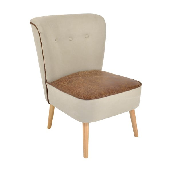 Židle Beige/Brown, 60x65x79 cm