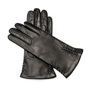 Dámské černé kožené rukavice <br>Pride & Dignity Berlin, vel. 8