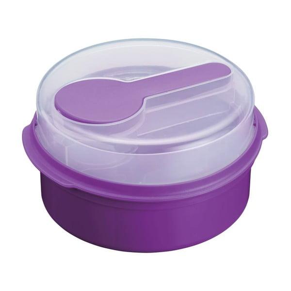 Fialový svačinový box KitchenCraft Coolmovers Round