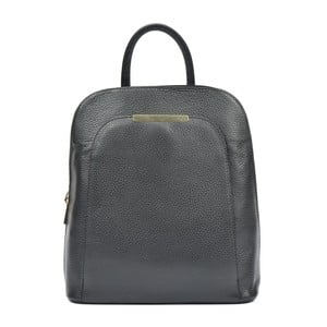 Černý kožený batoh Renata Corsi Masmina