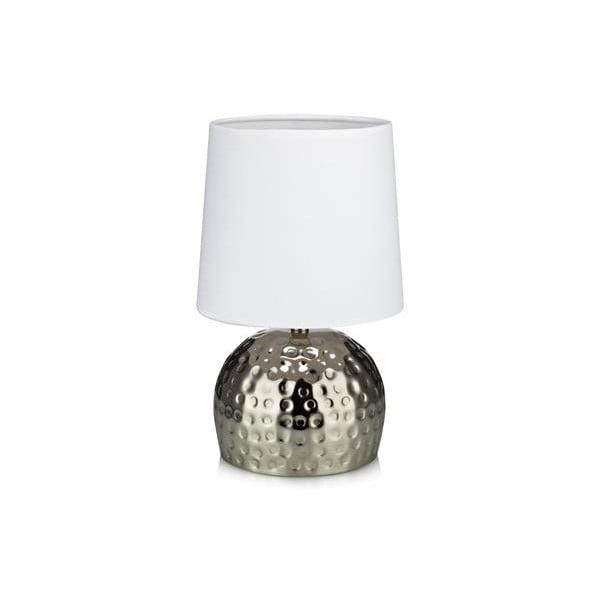 Stříbrná stolní lampa Markslöjd Hammer