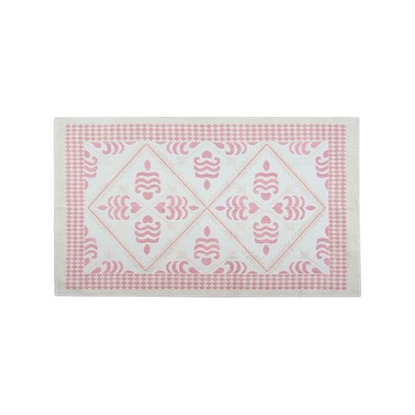 Pudrový bavlněný koberec Floorist Flair, 80x150cm