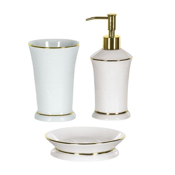 Koupelnový set Ascot White/Gold