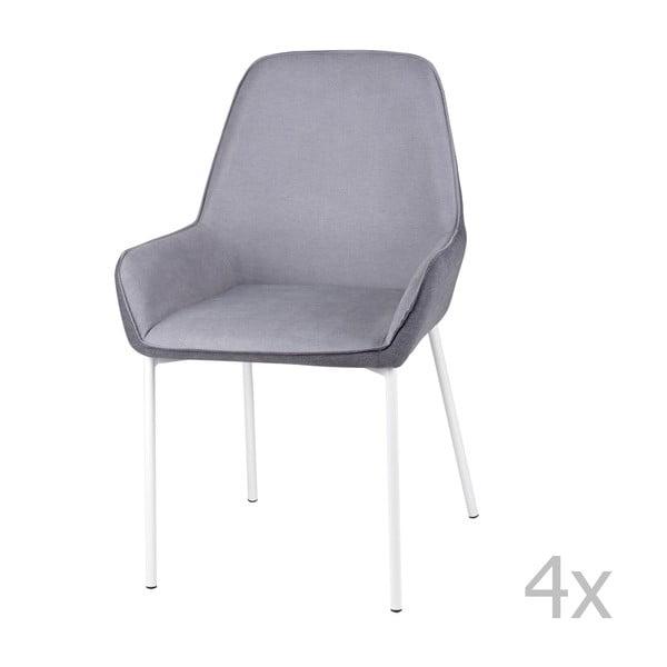 Sada 4 šedých jídelních židlí sømcasa Martina