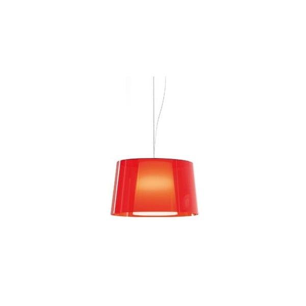 Závěsné světlo L001S/BA, transparentní červená