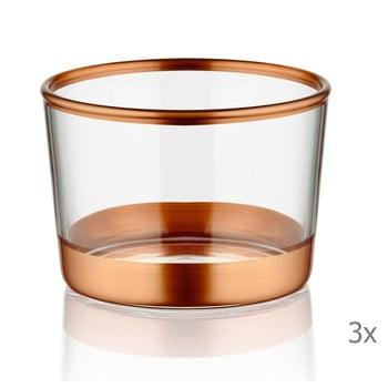 Set 3 pahare pentru shot-uri Mia Glam Bronze, ⌀ 8 cm