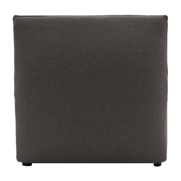 Světle šedý prostřední modul pohovky Vivonita Cube