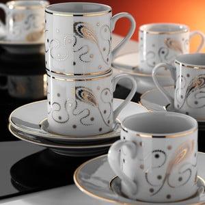 Sada hrníčků na kávu Zlato, 6 ks