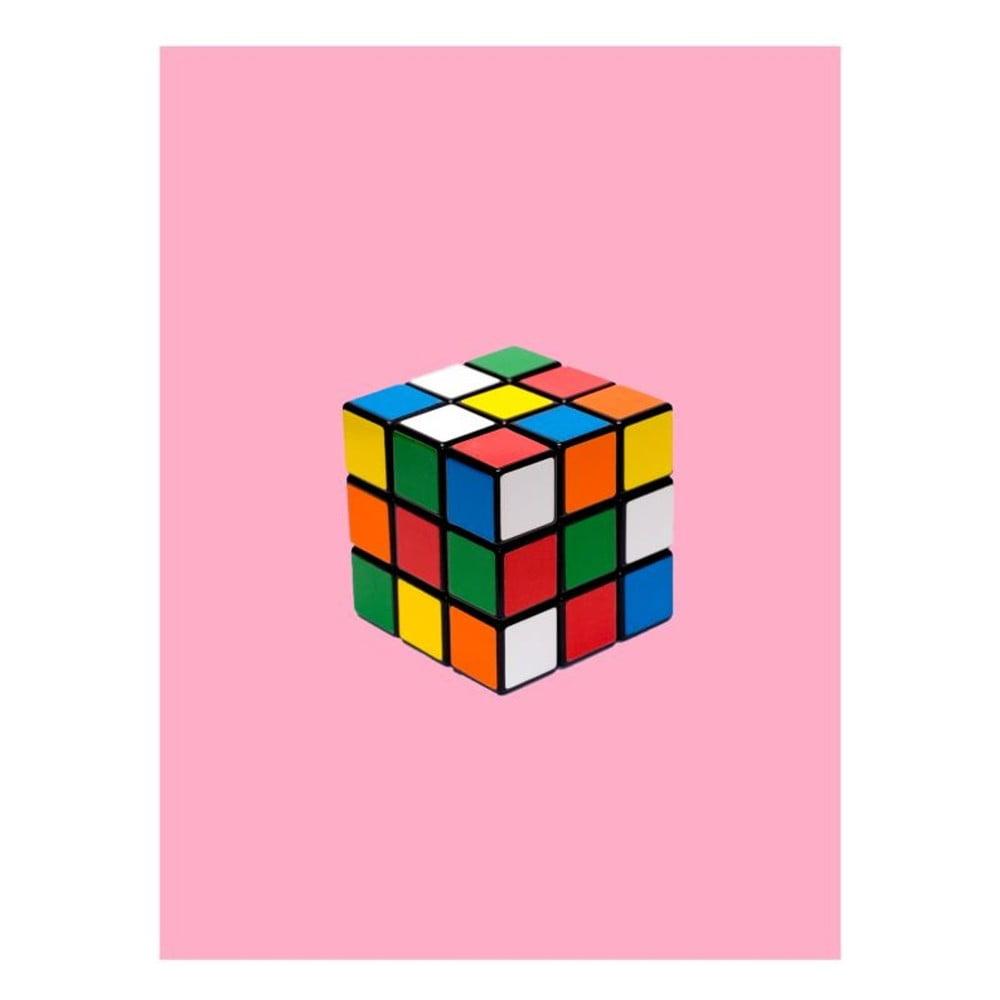 Plakát Blue-Shaker Objets Cultes Rubiks Cube, 30 x 40 cm