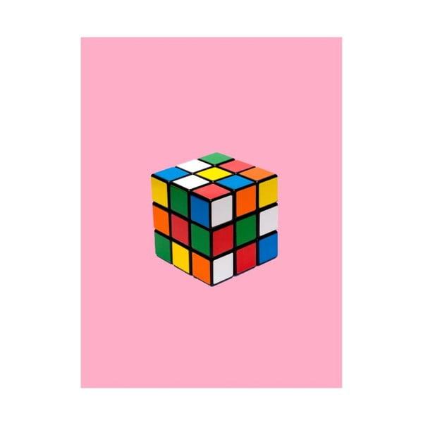 Objets Cultes Rubiks Cube poszter, 30 x 40 cm - Blue-Shaker