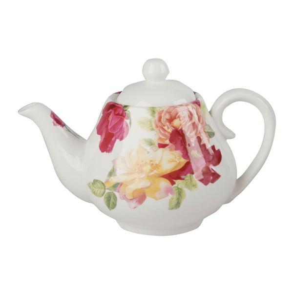 Porcelánová čajová konvice s květinovým motivem Creative Tops, 1 l