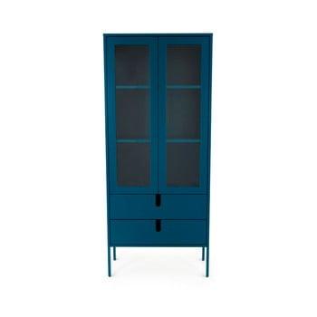 Vitrină Tenzo Uno, lățime 76 cm, albastru petrol de la Tenzo