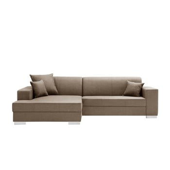 Canapea cu șezlong partea stângă Interieur De Famille Paris Perle maro deschis