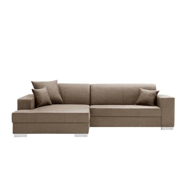 Canapea cu șezlong partea stângă Interieur De Famille Paris Perle, maro deschis