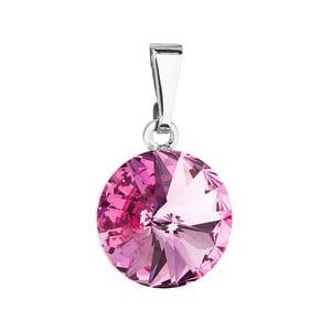 Růžový přívěsek se Swarovski krystalem Je Veux Marma, 20 mm