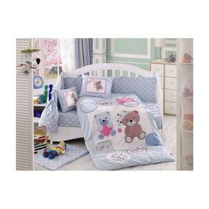 Lenjerie de pat cu cearșaf Ponpon, 100 x 150 cm