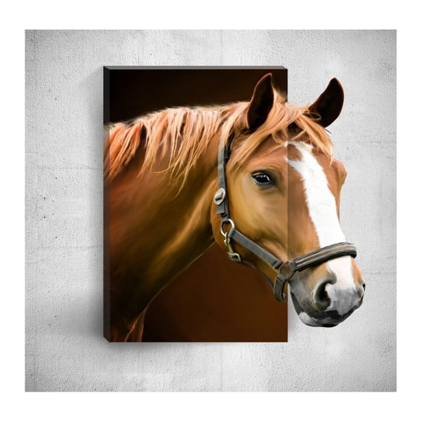 Nástěnný 3D obraz Mosticx Horse, 40 x 60 cm