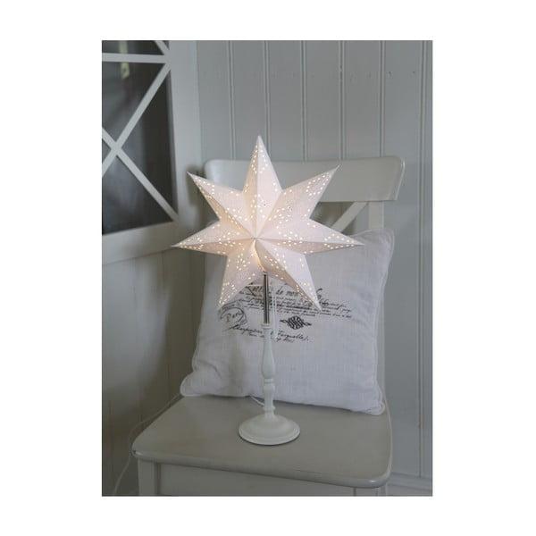 Bílá svítící hvězda se stojanem Best Season Romantic Star, 55 cm