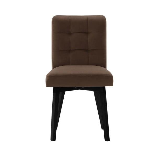 Hnědá jídelní židle sčernými nohami My Pop Design Haring