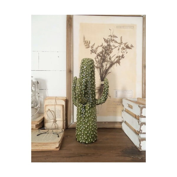 Cactus Summer In Italy zöld kerámia szobor, magasság 41 cm - Orchidea Milano