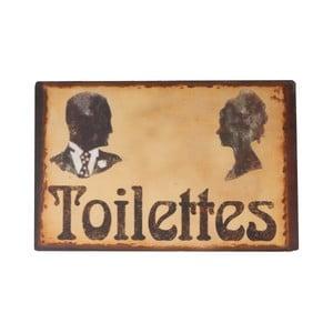 Cedulka na WC Toilettes