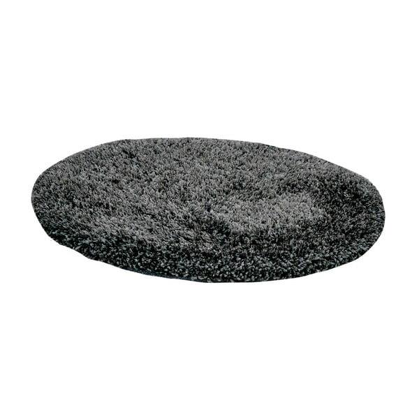 Tmavě šedý ručně vyráběný koberec Obsession My Touch Me Stone, 60 cm