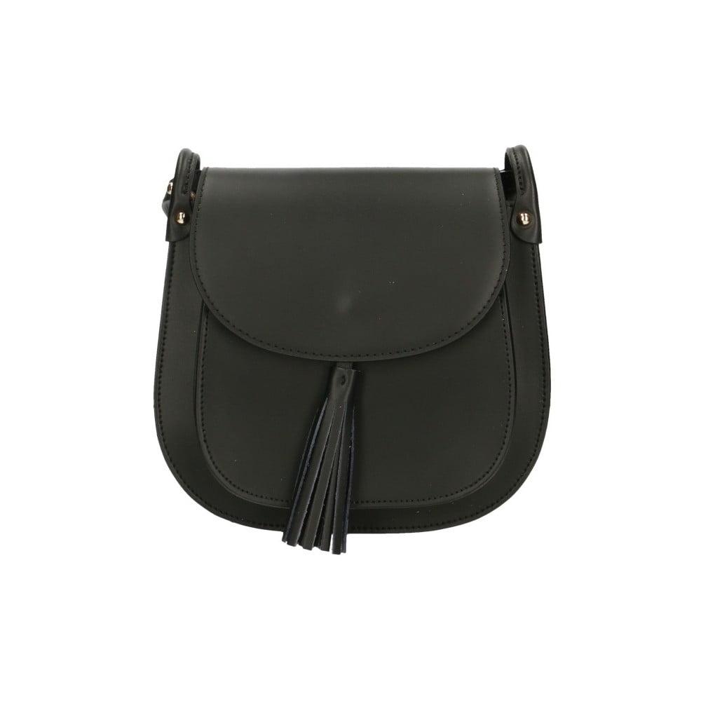 Černá kožená kabelka Roberto Buono Kara