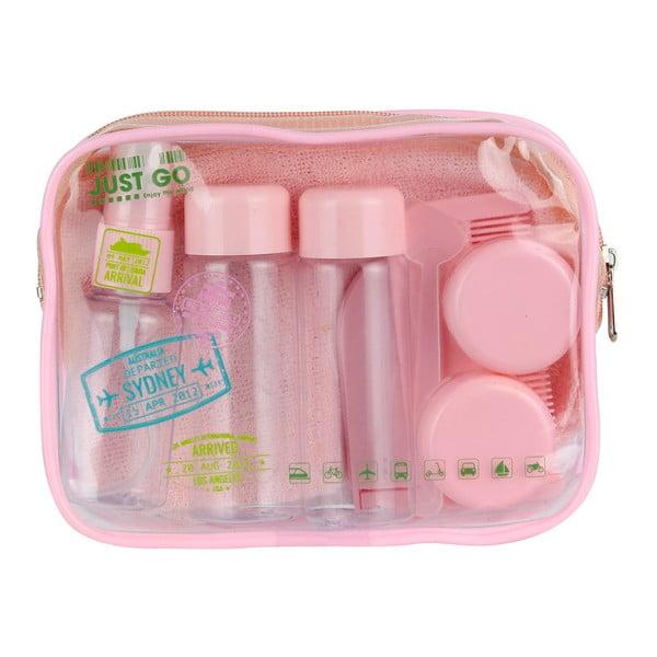 Mini-set de cosmetice pentru călătorie Le Studio Avion Rose, roz