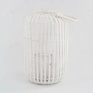Bílá dřevěná lucerna Dakls