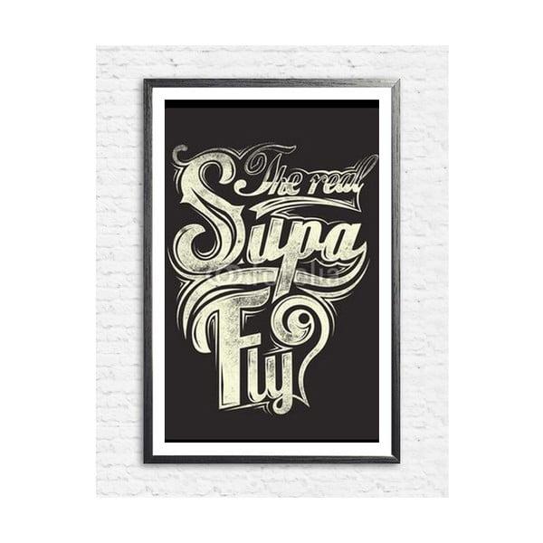 Zarámovaný plakát The Real Supa Fly, černý rám