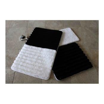 Set 3 covorașe de baie Confetti Bathmats, alb – negru de la Chilai Home by Alessia
