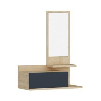 Raft de perete cu sertar și oglindă Arnetti Rozella