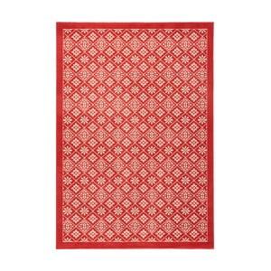 Červený běhoun Hanse Home Gloria Tile, 80 x 200 cm