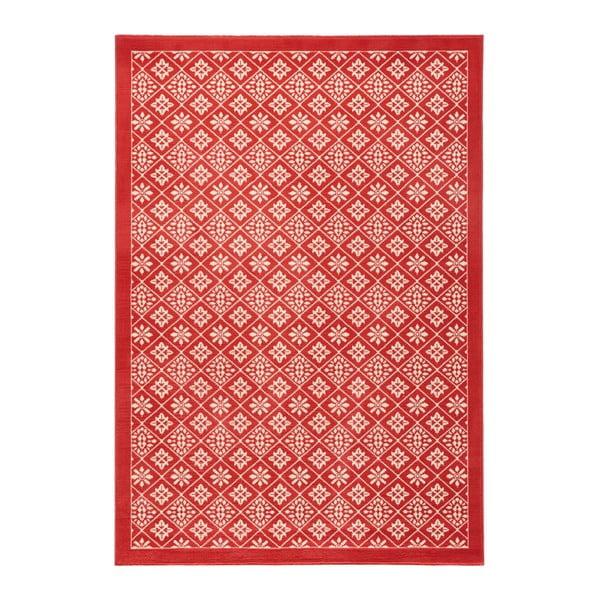 Červený koberec Hanse Home Gloria Tile, 160 x 230 cm