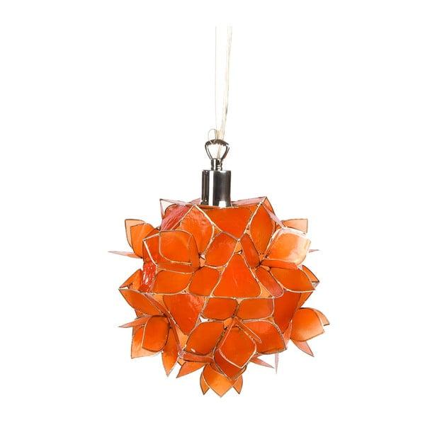 Perleťové závěsné světlo Small Lotus, oranžové