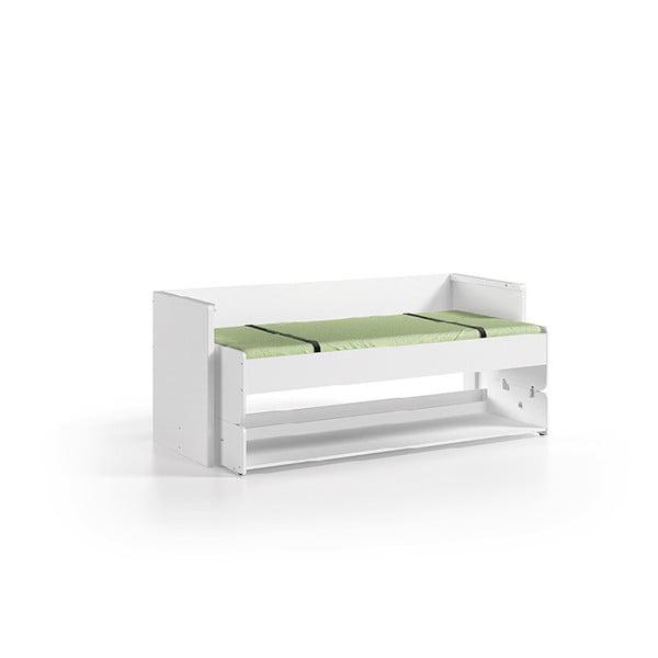 Białe łóżko wielofunkcyjne Vipack Denver