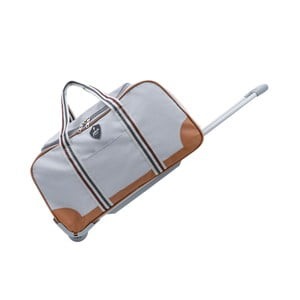 Světle šedá cestovní taška na kolečkách GENTLEMAN FARMER Sydney, 63 l