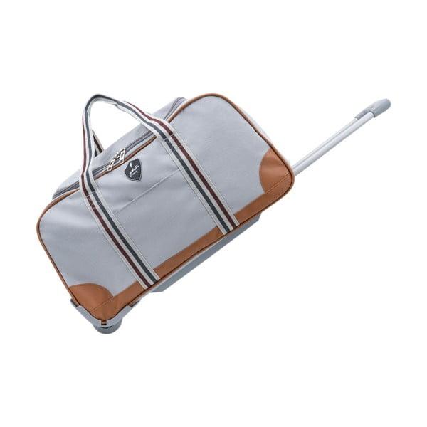Sivá cestovná taška na kolieskach GENTLEMAN FARMER Sydney, 63 l