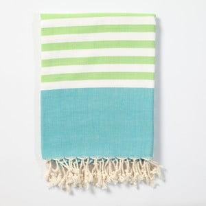 Hamam osuška z ručně tkané bavlny ZFK Tonnes, 170x100cm