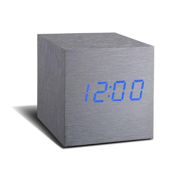LED budík Click Clock Maxi Blue