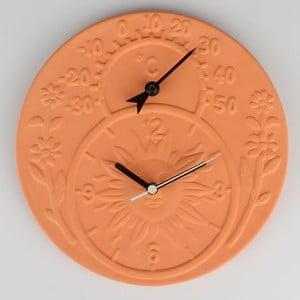 Keramické hodiny s teploměrem Dakls Slunce