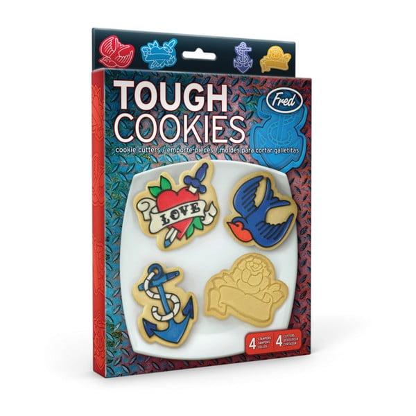 Sada 3 vykrajovátek a razítek na cukroví Fred & Friends Tough Cookies