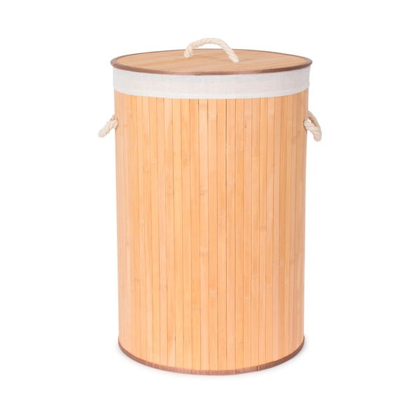 Okrągły bambusowy kosz na bieliznę Compactor Round