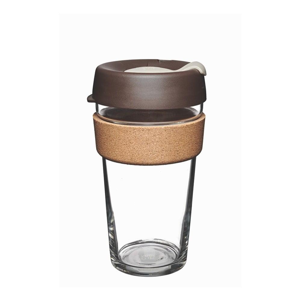 Cestovní hrnek s víčkem KeepCup Brew Cork Edition Almond, 454 ml