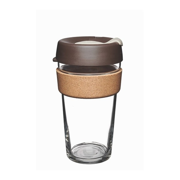 Cestovný hrnček s viečkom KeepCup Brew Cork Edition Almond, 454 ml